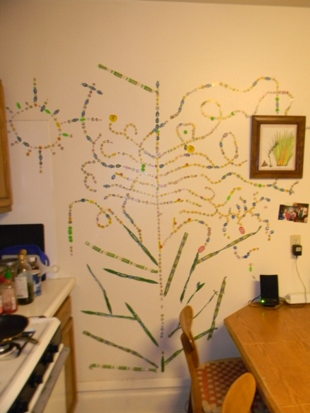 The produce sticker tree that lives in my kitchen.