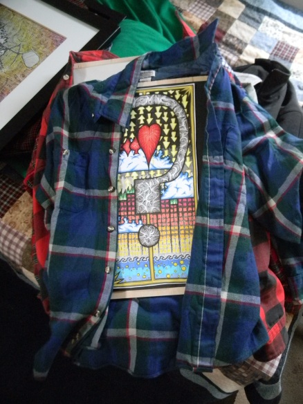 Transporting art in flannels is all the rage here in colorado these days