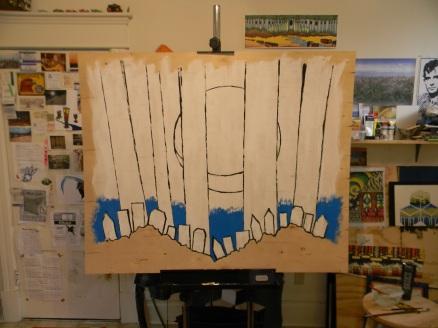 mural 1st blue