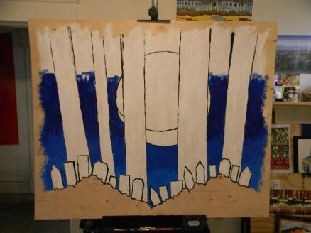 mural 2nd blue