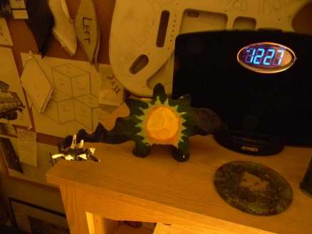 I made a stegosaurus with a sun on its side. f$#%ing hippies