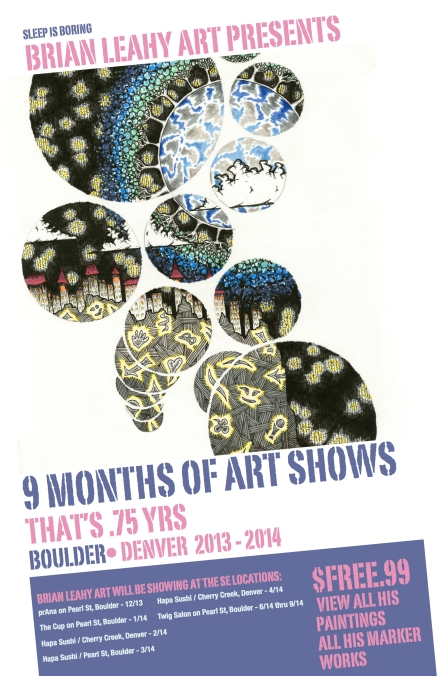 brian leahy art show poster upcoming year 2013-2014