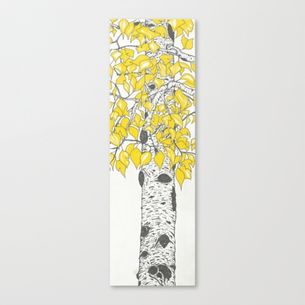 aspen by the creek stretched canvas example
