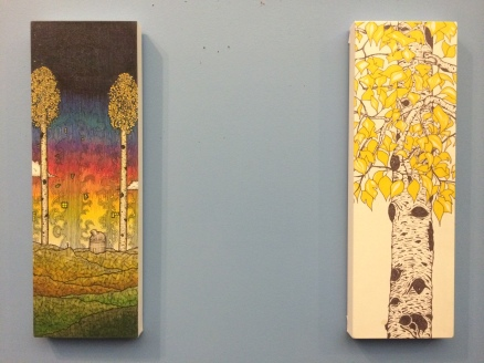 """Left: """"Alive in '85"""" Right: """"Aspen By The Creek"""""""